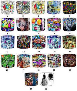 Graffiti-Abat-jour-Ideal-Correspond-A-Mur-De-Autocollants-Decalques-Duvets