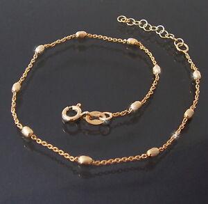 Fusskette-Kette-925er-Silber-Gold-Laenge-24-27cm-Schmuck-Fuss-Fussschmuck-14512G-27