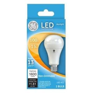 Ge 65764 Non Dimmable Medium Base A21 Led Light Bulb Daylight 1600