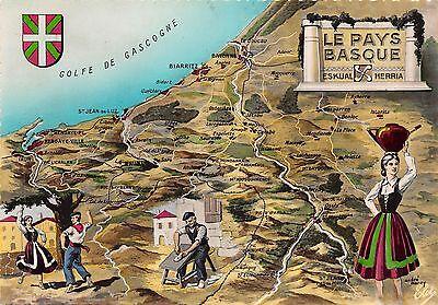 BR6559 Le Pays Basque map cartes geographiques france | eBay