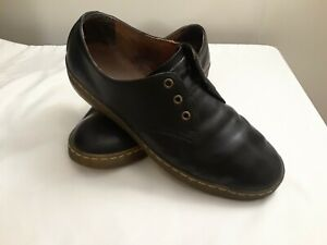 Black Leather Causal Oxford Shoes