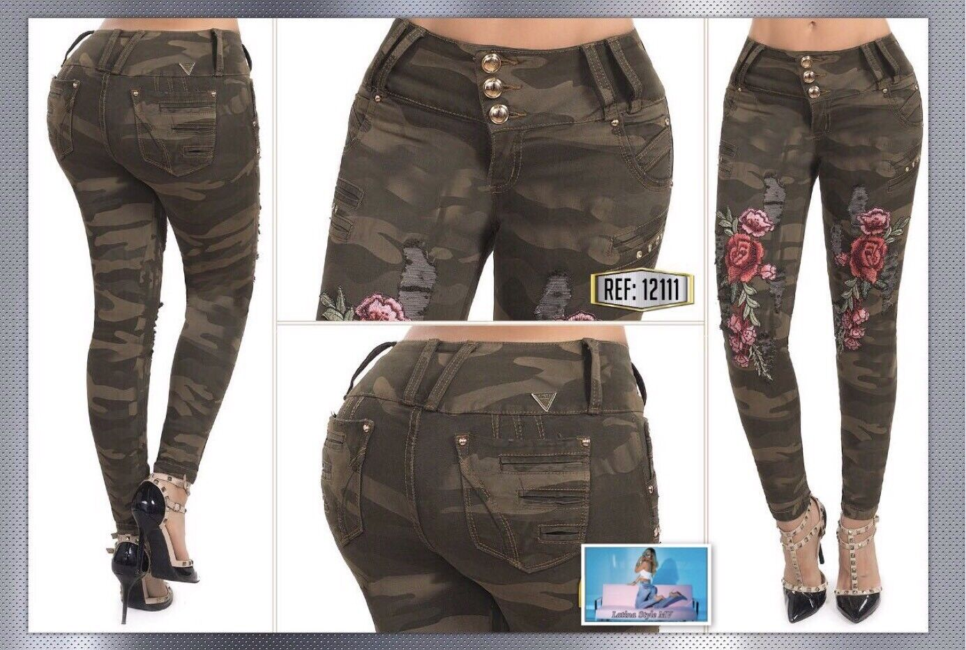 Exclusive Colombian Butt Lift  Jeans Sizes  1 2,3 4,5 6,7 8,9 10 USA