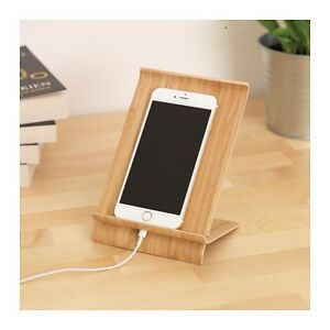 Image Is Loading Ikea Sigfinn Universal Wooden Bamboo Mobile Tablet Dock
