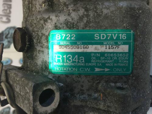 ALFA ROMEO 156 POMPA AD ARIA COND COMPRESSORE AC 60653652 1.7 2.0