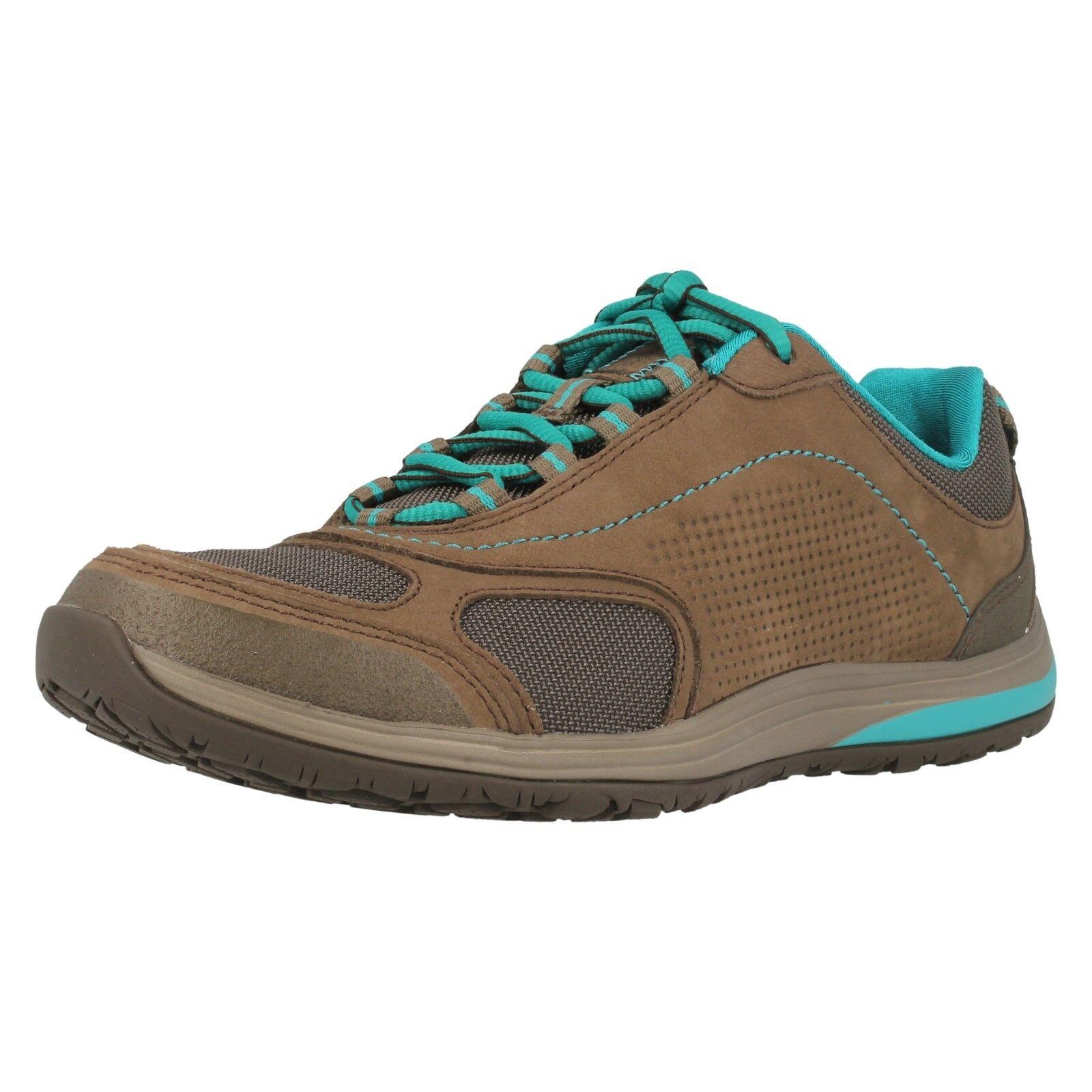 Onorevoli Clarks Route INSET Marronee in Cuoio Nubuck Casual scarpe Trainer D Width Fitting | 2019 Nuovo  | Scolaro/Signora Scarpa