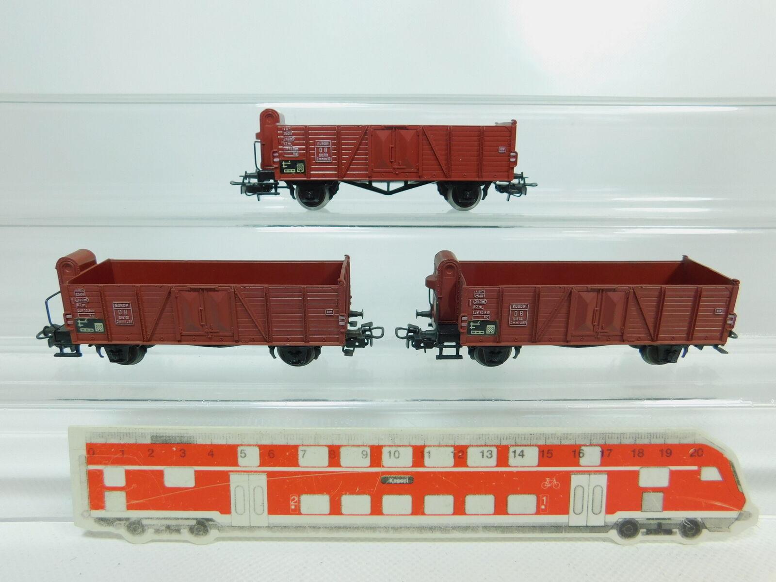 BP712-0,5x Märklin H0 AC 4601 (311 1) offener Güterwagen Hochbordwagen DB