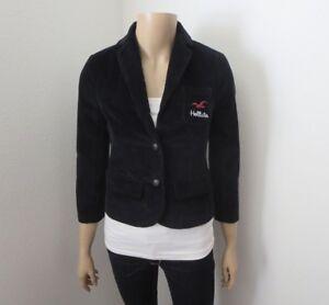 acheter populaire 320e4 226e8 Détails sur Neuf avec Étiquettes Hollister Femmes Velours Côtelé Blazer  TAILLE XS Logo Veste