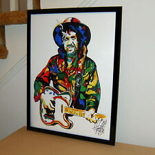 Waylon Jennings, Country Music Singer, Guitar, Mandolin, 18x24 POSTER w/COA