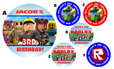 D Roblox Roblox Personalized Round Labels Birthday Party Stickers Favors Various Sizes Ebay