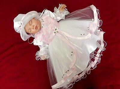 /%/% Edel Taufkleid Festkleid mit Haarband Hochzeitskleid 68 74 80