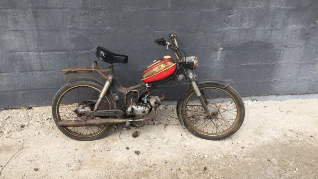 Puch Ms 50, 1976, 23437 km, Rusten, Ms 50 2 gear med match…