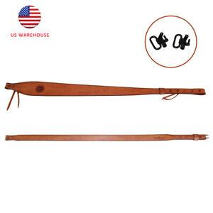 Tourbon Hand Made Rifle Sling Swivels Leather Shotgun Sling Shoulder Strap US