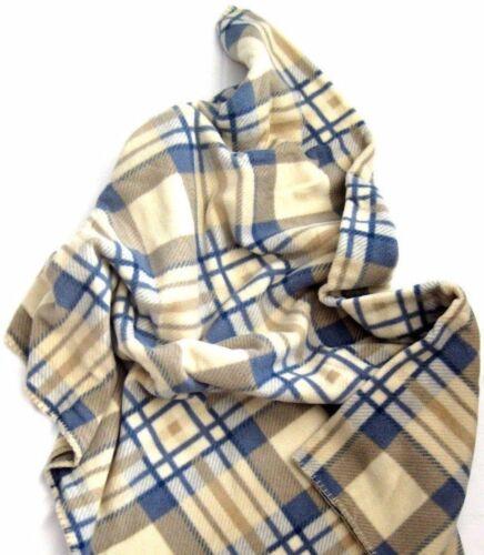 Biederlackborbo Alaska a Quadri Coperta tappeti di panno coperta avvolgente a quadri beige/blu 130
