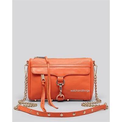 New Rebacca Minkoff Mini Mac Leather Crossbody Handbag Purse H001I001 $195