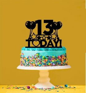 Strange 13Th Birthday Cake Topper 13 Years Old Thirteenth Ebay Funny Birthday Cards Online Inifodamsfinfo