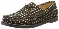 SEBAGO WOMENS DOCKSIDES BOAT SHOES size 10 NEW BLACK CAMEL CALF HAIR