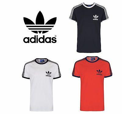 Adidas Sport ESS Tee Trefoil Mens Originals Retro Herren T-Shirt Weiß//Schwarz