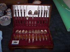 """1847 Rogers Bros. 51 Piece """"Eternally Yours"""" Silverplate Flatware for 8, w/box"""