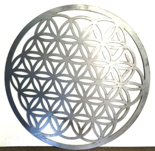 Flower Of Life Wall Art Hanging Solid Metal 390mm