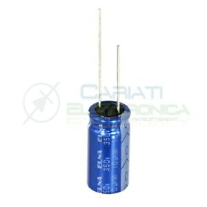 10 PEZZI Condensatore elettrolitico ELNA 3,3uF 50V 85°C 4X5mm PASSO 2,54mm