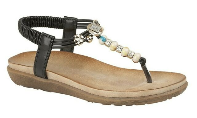 New Cipriata Salva Womens Toe Post Sling Back Sandals ALL SIZES AND COLOURS