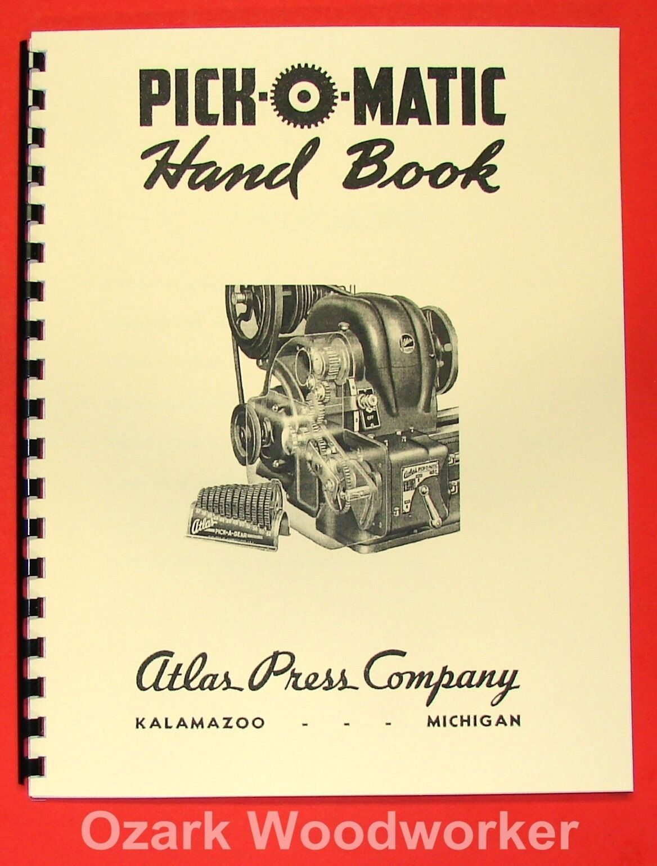 ATLAS Pick-O-Matic Lathe Hand Book Manual 0041