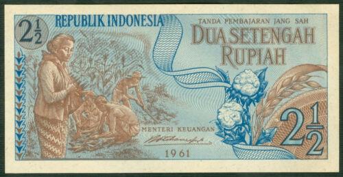 AU  P  79  LOT  2 PCS INDONESIA 2,5  RUPIAH  1961
