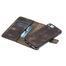 iPhone 7 Leather Phone Case Cover - Bouletta Magic Wallet Antic Brown