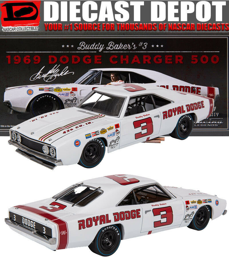 BUDDY BAKER 1969 DODGE CHARGER 500 (ROYAL DODGE) 1 24 UNIVERSITY OF RACING