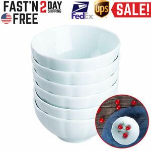Bowls-Set-Porcelain-White-Bowl-6pcs-Break-Resistant-Cup-Fluted-Soup-Cereal-Salad