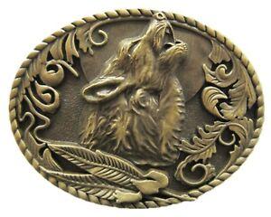 Howling-Wolf-II-Guertelschnalle-Cowboy-Western-Biker-Outlaw-Rocker-Wolf-Woelfe
