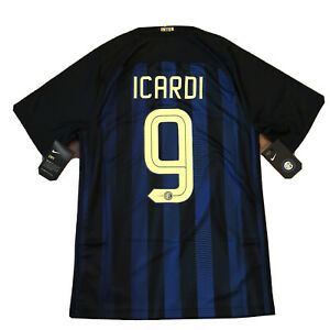 Details about 2016/17 Inter Milan Home Jersey #9 Icardi Small NIKE Soccer Internazionale NEW