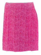 BODEN Women's Pink / Red Knee-Length Pencil Eyelet Skirt US Size 18 Long NEW