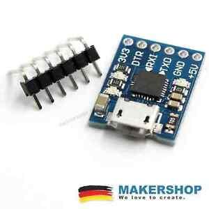 Micro-USB-a-UART-TTL-cp2102-Seriale-Adattatore-Modulo-Arduino-5v-3-3v