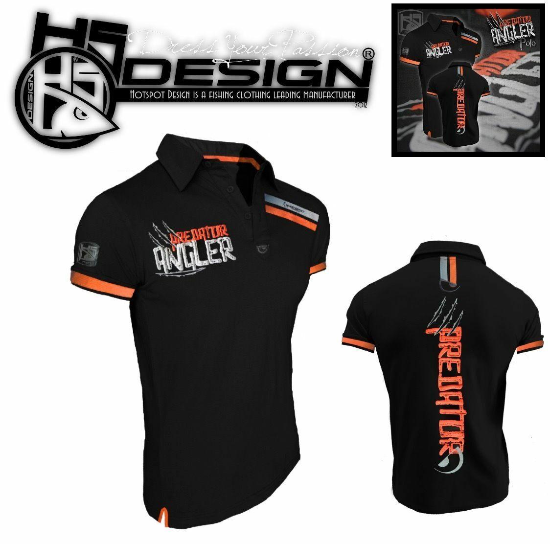 HOT SPOT DESIGN POLO T-Shirt PREDATOR ANGLER