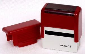 tampon encreur 2 lignes de texte,encre noire format 28x10mm POCKET NEW (S) N°1