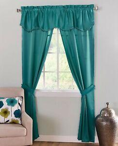 Room Darkening Teal Blue Curtain Panels