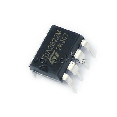 50PCS IC TDA2822M TDA2822 DIP-8 ST AMP AUDIO DUAL LOW VOLT