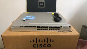 Details about CISCO WS-C3850-24P-L 24 Port Gigabit Ethernet PoE+ Layer 3  Switch PWR-C1-715WAC