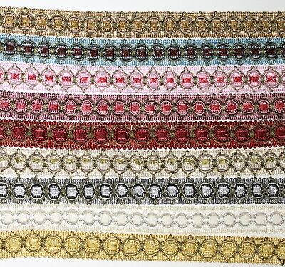 Braid Gimp Trim 25mm wide Upholstery Craft Edging Available 9 colours #12