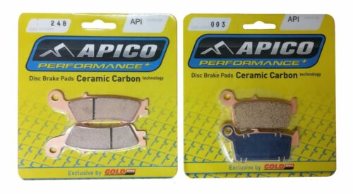 248-187 APICO FRONT /& REAR BRAKE PADS for YAMAHA YZF250 YZF450 2008