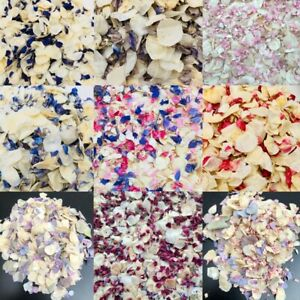 Biodegradable-Marriage-Confettis-naturelles-sechees-Petales-de-Rose-Violet-Ivoire-Bleu-Eco
