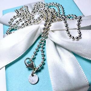 Tiffany Sterling Silver Bead Necklace Chain 34 Ebay