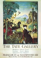 HENRY TATE GALLERY OF BRITISH ART TRAFALGAR SQUARE WESTMINSTER 1899 PLAKAT 128
