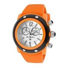 Glam Rock Women's GD1111 Miami Beach Chrono White Dial Orange Silicone Watch
