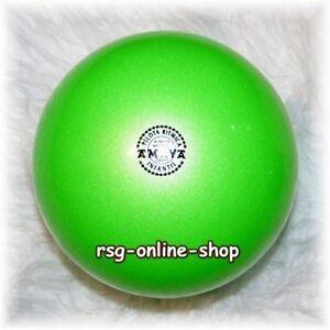 RSG-Ball-JUNIORBALL-Gymnastikball-HELLGRUN-neongruen-METALLIC-150-170mm-300g-NEU