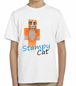 Image Is Loading Stampy Cat T Shirt Kids Children 039 S
