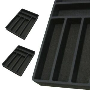 2-Silverware-Organizers-Drawer-Insert-Black-Universal-Fit-6-Slot-12-75-034-x-18-034