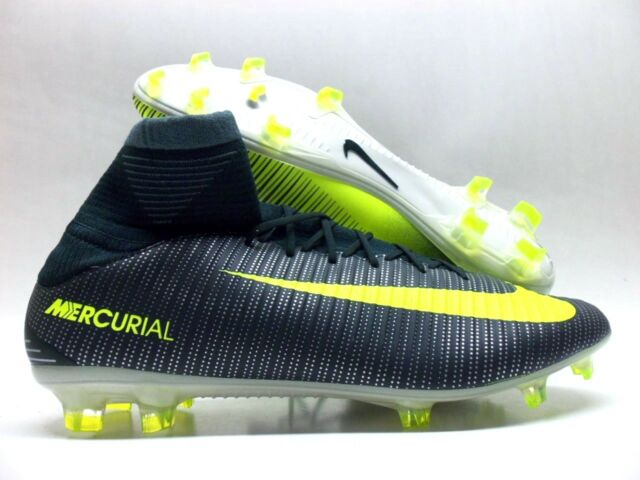 new arrival 86c08 6f588 NIKE MERCURIAL VELOCE III DF CR7 FG SOCCER CLEAT VOLT SIZE MEN S 10  852518-
