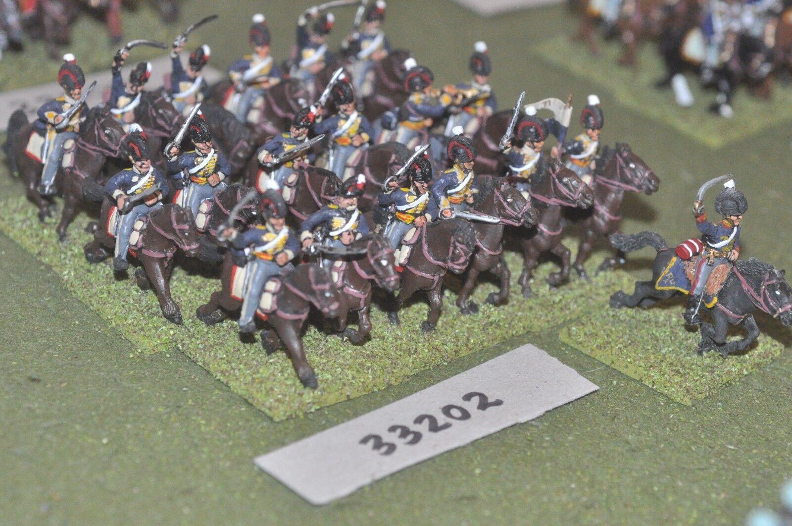 25mm Luz napoleónicas británico Dragones 19 figuras-CAV (33202)